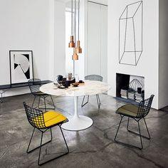 "urbnite: ""Bertoia Side Chair Tulip Table Collection by Eero Saarinen """