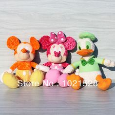 Online Shop 40cm large size Limited flourescence color mickey mouse plush toy stuffed minnie mouse toy Donald Duck birthday gifts Aliexpress Mobile