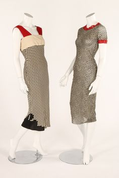 One Item - Kerry Taylor Auctions Polka Dot Print, Polka Dots, Vintage Wardrobe, Black Abstract, Stretch Dress, Jean Paul Gaultier, 1990s, Navy And White, Auction