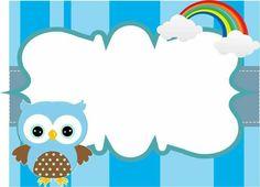 Fondo azul arco iris Owl Theme Classroom, Classroom Charts, Preschool Binder, Preschool Activities, School Border, Mickey Mouse Cupcakes, Birthday Charts, Kids Labels, School Labels