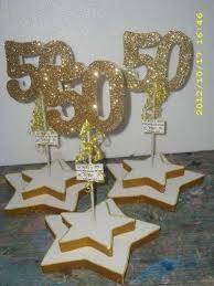 Birthday Decoration ideas for her Golden Anniversary, 50th Wedding Anniversary, Anniversary Parties, 90th Birthday Parties, 50th Party, Birthday Centerpieces, Birthday Decorations, Class Reunion Decorations, Deco Table