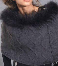 mantella con un tocco di pelliccia