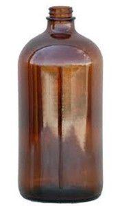 Vintage 32oz Amber Apothecary Jars