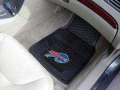 "NFL - Buffalo Bills Heavy Duty 2-Piece Vinyl Car Mats 17""x27"""