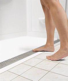 Zero-threshold shower base.