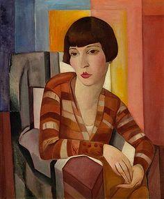 Lasar Segall (Lithuanian-born Brazilian painter, 1891-1957) Retrato de Baby de Almeida