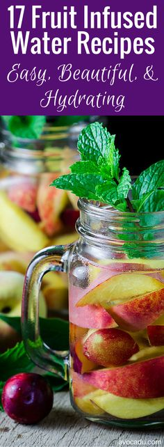 These 17 fruit infused detox water recipes are deliciously healthy. These fruit infused waters are refreshingly different than your average water. Healthy Detox, Healthy Eating Tips, Healthy Drinks, Clean Eating, Easy Detox, Healthy Water, Detox Drinks, Healthy Food, Simple Detox