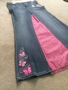 Size 16 Long denim skirt  by JCsRecreated on Etsy, $40.00