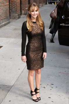 Jennifer Lawrence wore Prabal Gurung to a taping for David Letterman    http://www.fashionologie.com/Best-Dressed-Celebrities-Week-March-19-2012-22347456?page=0,0,1#8