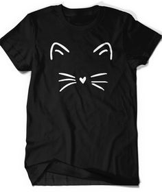 Cute Cat Shirt Kitty Kitten T Shirt Tee Mens Womens by BoooTees                                                                                                                                                                                 More