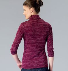 Kwiksew K4069 | Sewing Pattern | Misses' Tops | Polo Neck | Long Sleeve | 3/4 Sleeve | Tee Shirts