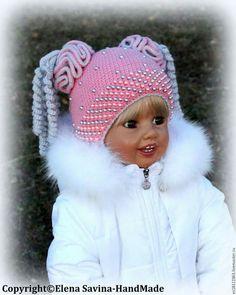 Ideas Crochet Headband Pattern Kids For 2019 Bobble Crochet, Crochet Baby Beanie, Crochet Kids Hats, Baby Hats Knitting, Crochet Baby Clothes, Baby Knitting Patterns, Knitted Hats, Crochet Patterns, Crochet Headband Pattern