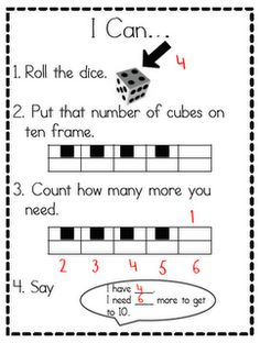 Great math station FREEBIE using the tens frame