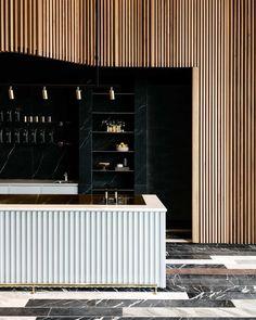 """ถูกใจ 3,538 คน, ความคิดเห็น 16 รายการ - Interior Design Magazine (@interiordesignmag) บน Instagram: """"In Sydney, @StudioTate styled a @tobysestatecoffee outpost in the famous Commonwealth Trading Bank…"""""""