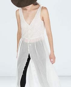 Image 2 of COMBINED MAXI DRESS from Zara Fashionista Trends, Zara Fashion, Only Fashion, Fashion Beauty, Fashion Outfits, Ss15 Trends, Mode Zara, Vestidos Zara, Valentine's Day Outfit