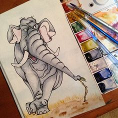 """In the military style"" #ColonelHathi from #Disney's #TheJungleBook is done"