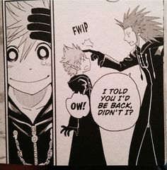 Just a little reminder that this is what Roxas's face looked like in the graphic novel when he found out Axel wasn't terminated ...