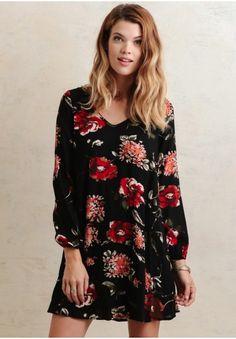 Kareena Black Floral Dress | Modern Vintage New Arrivals | Ruche