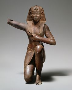 Ritual figure, 4th century b.c.–early Ptolemaic Period (380–246 b.c.)  Egyptian  Wood, formerly clad in lead sheet