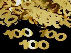 Party Confetti in ounce packetsShiny Metallic Gold on both sides. ounce packet is enough to decorate a table for 8 guests. 90th Birthday Parties, Birthday Party Decorations, Birthday Celebration, Birthday Cakes, 100 Years Celebration, Grandma Birthday, Happy Party, A Table, The 100