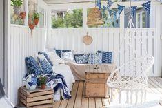 Blåvitt i sommarhuset – hitta stilen - Reklam: Samarbeten, Trädgård, balkong & uteplats - Husligheter