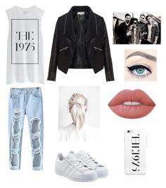 """The 1975 concert outfit"" by gracevvincent on Polyvore featuring Chicnova Fashion, adidas Originals, Zizzi and Lime Crime"