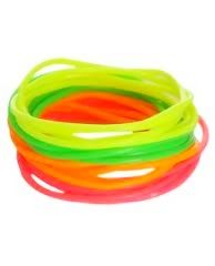 20 Piece Neon Bracelets - Teen Clothing by Wet Seal Jelly Bracelets, Neon Bracelets, Rubber Bracelets, Neon Outfits, Outfits For Teens, 80s Trends, 90s Throwback, I Remember When, My Childhood Memories