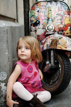 Vespa Little Girl.