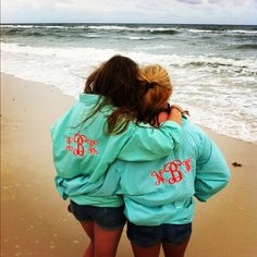 monogrammed windbreakers...LOVE. WANT