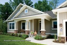 stone veneer panels and vinyl siding on house - Google Search