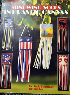 Needlepoint Mini Wind Socks in Plastic Canvas  Needlepoint Pattern Fiber Art by Patternhaus on Etsy