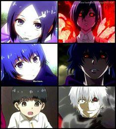 Ayato,Touka y Kaneki