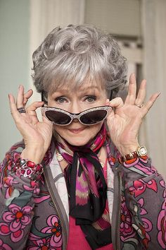 """Debbie Reynolds as Grandama Mazur in """"One for the Money"""". Looks like a great fit but not sure about the other characters."""