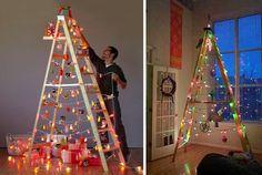 Scala trasformata in albero di Natale
