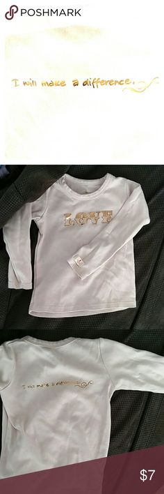 Quality LOVE Logo T Very good used condition Love is on the front I will make a difference is on the back Athletic fit Dusty Rose shade Bundle up for 30% off! Booda Shirts & Tops Tees - Long Sleeve