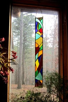 Cool stained glass panel