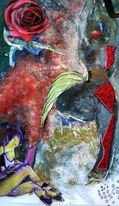 mixed media, oli, acrylic, collage