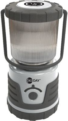 Ultimate Survival Technologies 30-Day Lantern - Silver Outdoor.The 30 Day Lantern runs for 30 days continuous use on 'low' mode and 32 hours continuous use on 'high' mode. It requires 4 D-cell batteries (not included). An amber LED indicator shows brightness levels, a green LED indicator flashes at off mode to show the lantern in darkness, and the rubberized housing enhances impact resistance. https://api.shopstyle.com/action/apiVisitRetailer?id=456613787&pid=uid8100-34415590-43