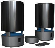 WIOS Wireless Stereo Speakers by Wolverine Data, a complete rich sounding Outdoor-Indoor Portable Two Pack Speaker System