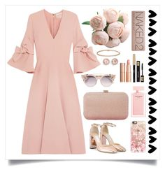 A fashion look from March 2017 featuring embellished dress, pink shoes and man bag. Browse and shop related looks. Dana Rebecca, Narciso Rodriguez, Roksanda, Dune, Urban Decay, Cartier, Casetify, Jimmy Choo, Yves Saint Laurent