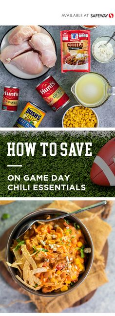 Get inspired to bring the flavor to the big game with help from BUSH'S® Mild . Chili Recipes, Crockpot Recipes, Chicken Recipes, Keto Recipes, Chicken Chili, Buffalo Chicken, Chili Seasoning Mix, Slow Cooker Casserole, Kuchen