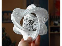 Honeycomb-borromean-surface 3d printed Sculptures Mathematical Art Description