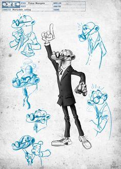 Arte película Mortadelo y Filemón contra Jimmy el Cachondo diseños sketch - Mortadelo