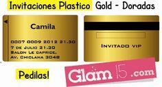 Tarjetas plasticas GOLD, pedilas en http://glam15.com/tarjetasgold/
