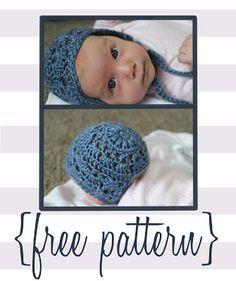"Original pinner said, ""Bloggity Blog: Baby Bonnet Crochet Pattern (free!)"" #free #pattern #crochet"