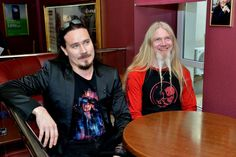 Tuomas and Marco in Russia for the Imaginaerum premier.