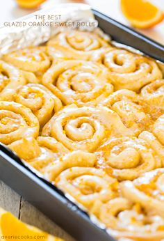 The Best Glazed Orange Sweet Rolls - The softest, lightest, and most irresistible rolls ever!!