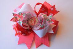 Strawberry Shortcake Hair Bow by StacyFoulks on Etsy, $5.00