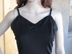 Vintage Full Black Slip, by Larterwear, Slip Dress, 1960s 60s Full Slip, Vintage Lingerie by AngelsVintageDreams on Etsy