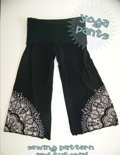 Yoga Pants PDF Pattern 2 styles Easy Fit or Fitted by OwlyBaby